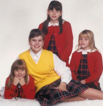 1992 portrait with sisters